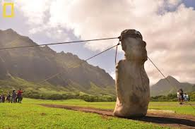 "I would love to see Easter Island.  I remember my ""Mario"" tetris game had a level with Easter Island.  Until reading, i never knew about the red stones on the tops of them."